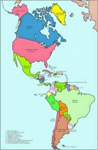 Mapa político-América