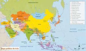 Mapa político-Asia